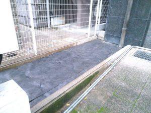 マンションでの防草シート施工