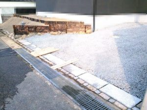大阪北摂での新築の外構工事完了