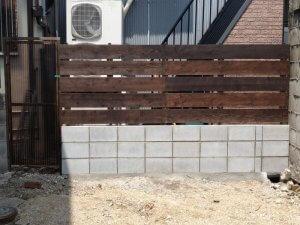 ブロックフェンス工事
